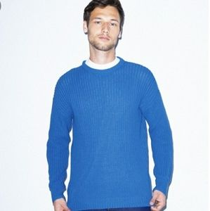 American Apparel fisherman pullover sweater blue L